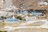 Hot springs at hot creek geological site — Stock Photo