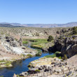 Hot springs at hot creek geological site — Stock Photo #41590969
