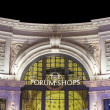 Stock Photo: Forums shopy by night at strip