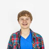 Happy friendly teenage boy — Stockfoto
