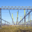 Transformer station in rural landscape  with blue sky — Stock Photo #41817461