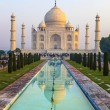 Stock Photo: Taj Mahal in sunrise light