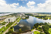 Aerial of baton Rouge with Missisippi river — Stock Photo