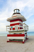 Badvakter utpost tower i south beach, miami — Stockfoto