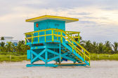 Lifeguards outpost tower in South Beach, Miami — Stock Photo