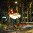 The downtown Las Vegas sign at night — Stock Photo