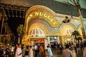 People at Golden Nugget hotel and casino in downtown Las Vegas — Stock Photo