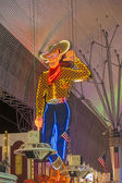 Fremont Street in Las Vegas, Nevada by night — Stock Photo