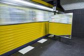 Train leaves the underground station — Stock Photo