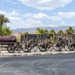 Old waggons in the Death valley — Stock Photo