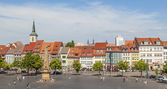 View of the historical city centre of Erfurt, Germany  — Стоковое фото