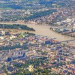 Aerial of industrial part of Mainz with river main — Stock Photo #43121081