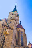 Jesus on the cross at the dome in Erfurt — Stock Photo