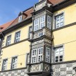 Beautiful decorated house facades in Erfurt — Stock Photo #43460453