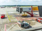 Uçak kapısında — Stok fotoğraf