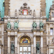 Постер, плакат: Hamburg town hall detail of the city hall or town hall of Hamb