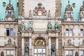 Hamburg, town hall, detail of the city hall or town hall of Hamb — Stock Photo