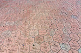 Commemorative bricks with names in terracotta  — Stock Photo