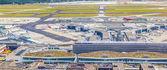 Veduta aerea dell'aeroporto di francoforte con terminale 1 — Foto Stock