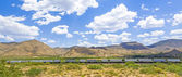Railway along the Route 66  — Stock Photo