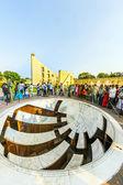 People visit astronomical instrument at Jantar Mantar observator — Stock Photo