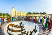People visit astronomical instrument at Jantar Mantar observator — Stock Photo