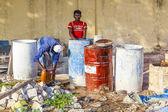 Arbeiter auf einer Baustelle in Indien — Stockfoto