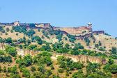 Famous Rajasthan landmark - Amber fort, Rajasthan, India — Stock Photo