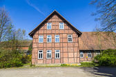 half timbered house under clear blue sky  — Stock Photo