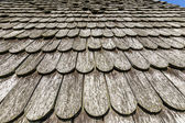 Old historic  brown wood roof  tiles — Stock Photo