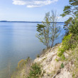 Romantic steep cliff with lake — Stock Photo #45402135