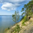 Romantic steep cliff with lake — Stock Photo #45402847