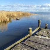 Old  landing stage at Achterwasser in Usedom — Stock Photo
