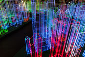Light installations by night in Bangkok — Stock Photo