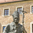 Statue of Pope John Paul II on Wawel in Krakow — Stock Photo #46009831