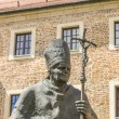 Постер, плакат: Statue of Pope John Paul II on Wawel in Krakow