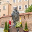 Statue of Pope John Paul II on Wawel in Krakow — Stock Photo #46010711