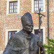 KRAKOW, POLAND - JUL 27, 2013: Statue of Pope John Paul II ( Ble — Stock Photo