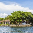 View to beautiful houses from the canal in Fort Lauderdale — Stock Photo #46109777