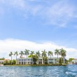View to beautiful houses from the canal in Fort Lauderdale — Stock Photo #46110461