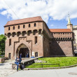 Cracow barbican - medieval fortifcation at city walls, Poland — Stock Photo #46276751