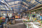 People sell their goods at the market Stary Kleparz in Krakow, P — Stock Photo