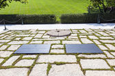 John F. Kennedy Eternal Flame presidential memorial  — Stock Photo