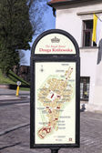 Map guides the tourists to the royal route  — Stockfoto