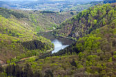 Saar loop at Mettlach. A famous view point. — Stock Photo