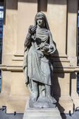 Statue at frankfurt stock exchange that symbolizes asia — Stock Photo