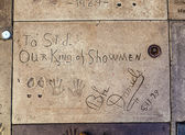 Handprints of Bebe Daniels in Hollywood in the concrete of Chine — Stock Photo