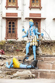 Colorful shiva statue at puskhar lake — Stock Photo