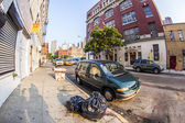 Downtown streetview  at the east harbor side — Stock Photo