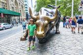 Landmark stier manhattanse opladen — Stockfoto